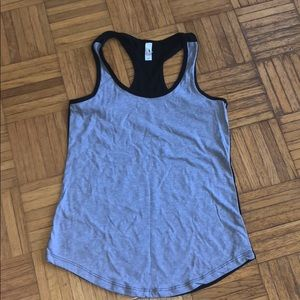 Tops - Ideal Two Toned Racer Back Tank Grey & Black